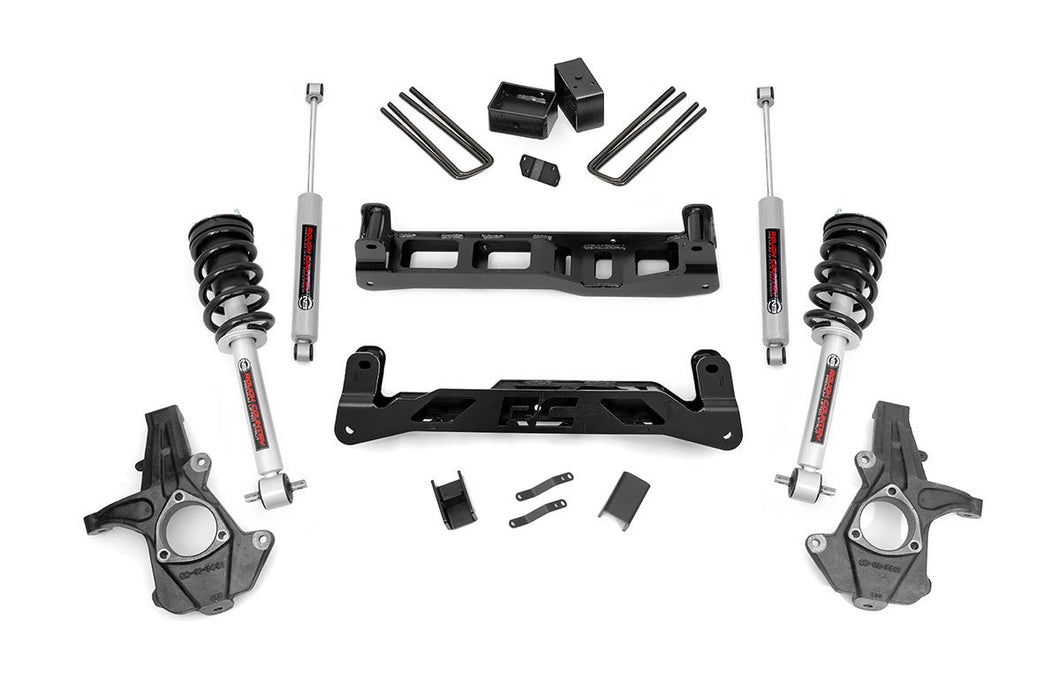 5in GM Suspension Lift Kit w/N3 Shocks & Struts (14-17 1500 PU 2WD Cast Steel)