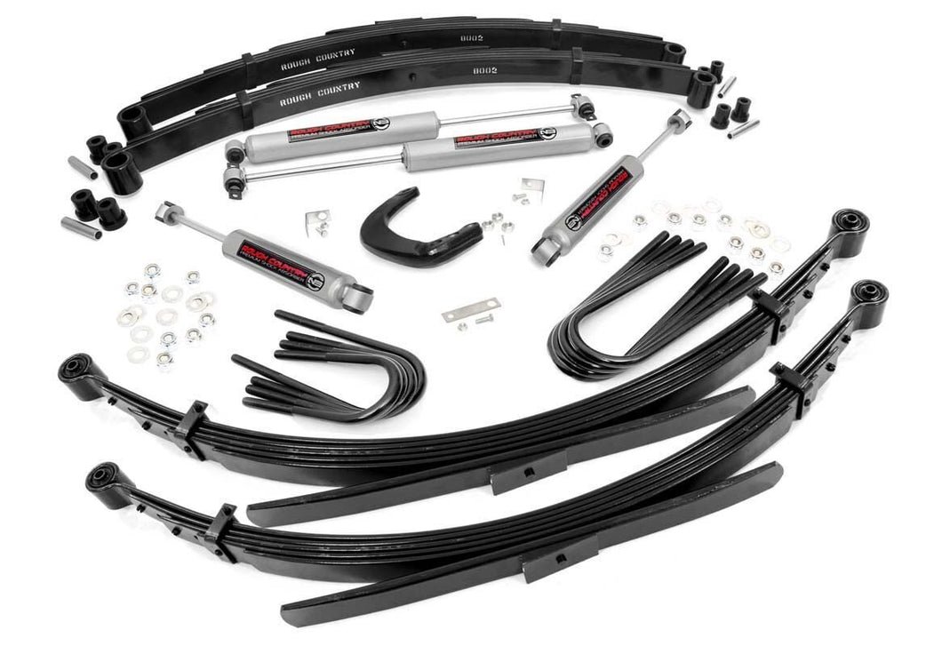 4in GM Suspension Lift System (88-91 3/4-Ton Suburban 4WD 52in Rear Springs)