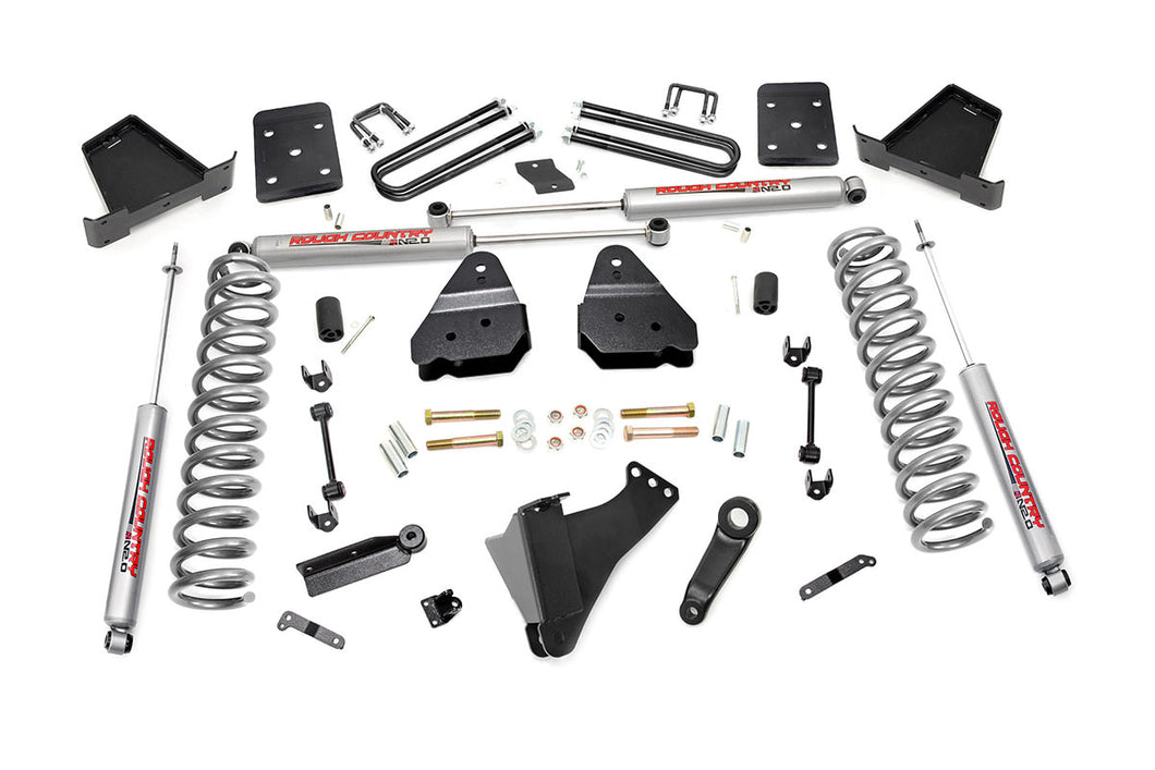 Rough Country 6-inch Suspension Lift Kit (Diesel Engine Non-Overload Spring Models)