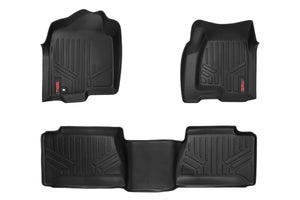 Rough Country Heavy Duty Floor Mats - Front & Rear Combo (Extended Cab Models)