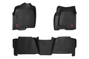 Rough Country Heavy Duty Floor Mats - Front & Rear Combo (Crew Cab Models)