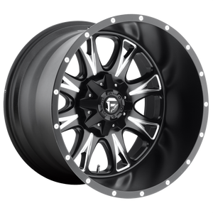 THROTTLE 17x9 6x135.00/6x139.70 MATTE BLACK MILLED (1mm)