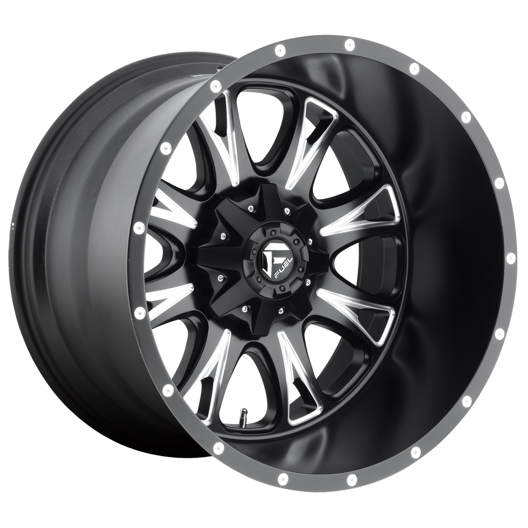 THROTTLE 20x9 5x139.70/5x150.00 MATTE BLACK MILLED (1mm)