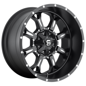 KRANK 20x9 8x165.10 MATTE BLACK MILLED (1mm)
