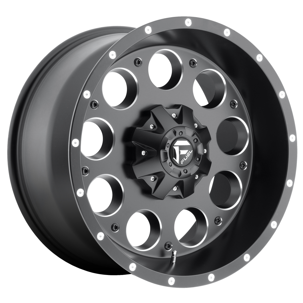 REVOLVER 17x9 8x165.10 MATTE BLACK MILLED (-12mm)