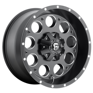 REVOLVER 17x9 5x114.30/5x127.00 MATTE BLACK MILLED (1mm)