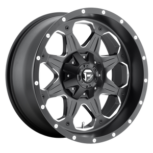 BOOST 16x8 5x114.30/5x127.00 MATTE BLACK MILLED (1mm)