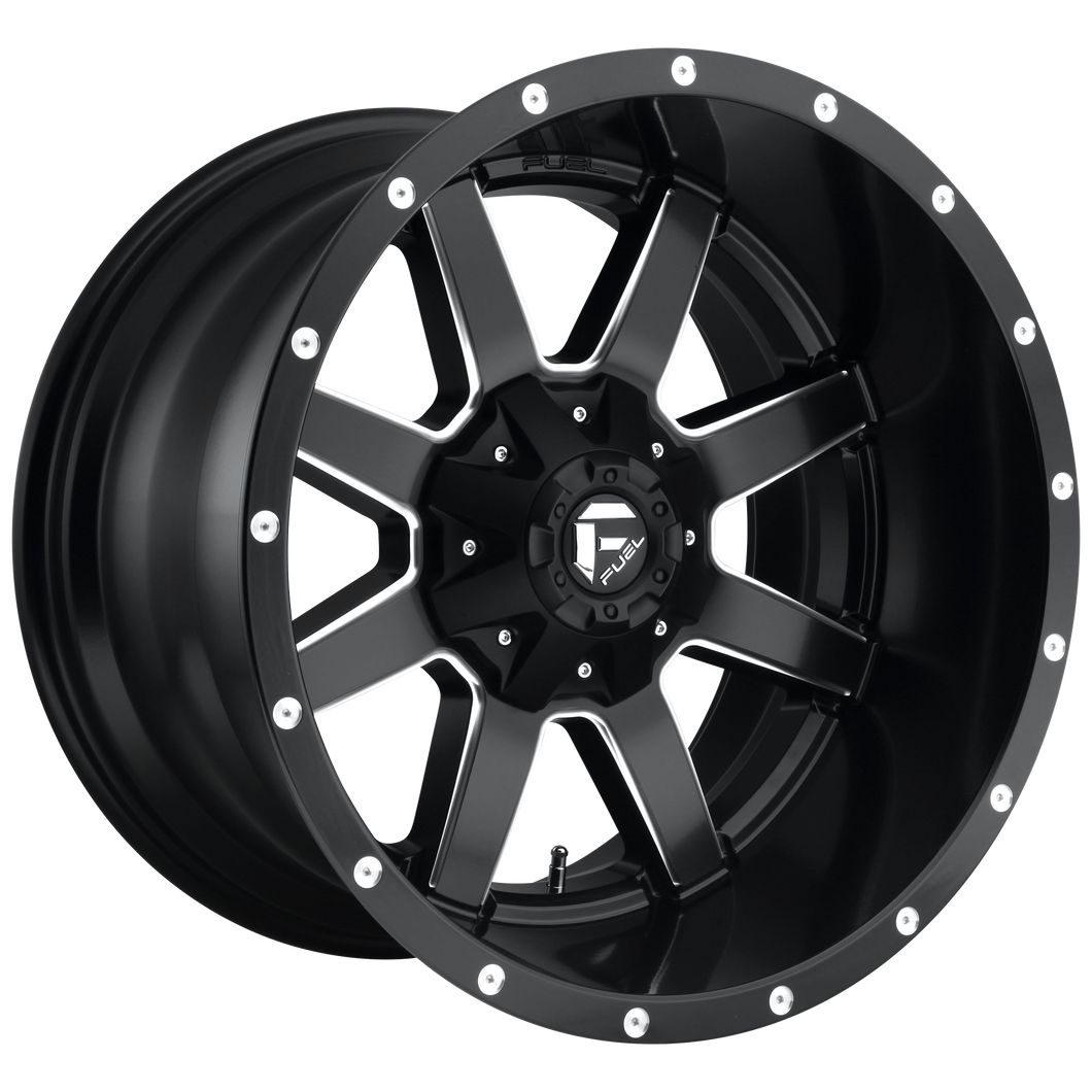 MAVERICK 24x12 8x170.00 MATTE BLACK MILLED (-44mm)