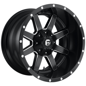MAVERICK 24x14 8x165.10 MATTE BLACK MILLED (-75mm)