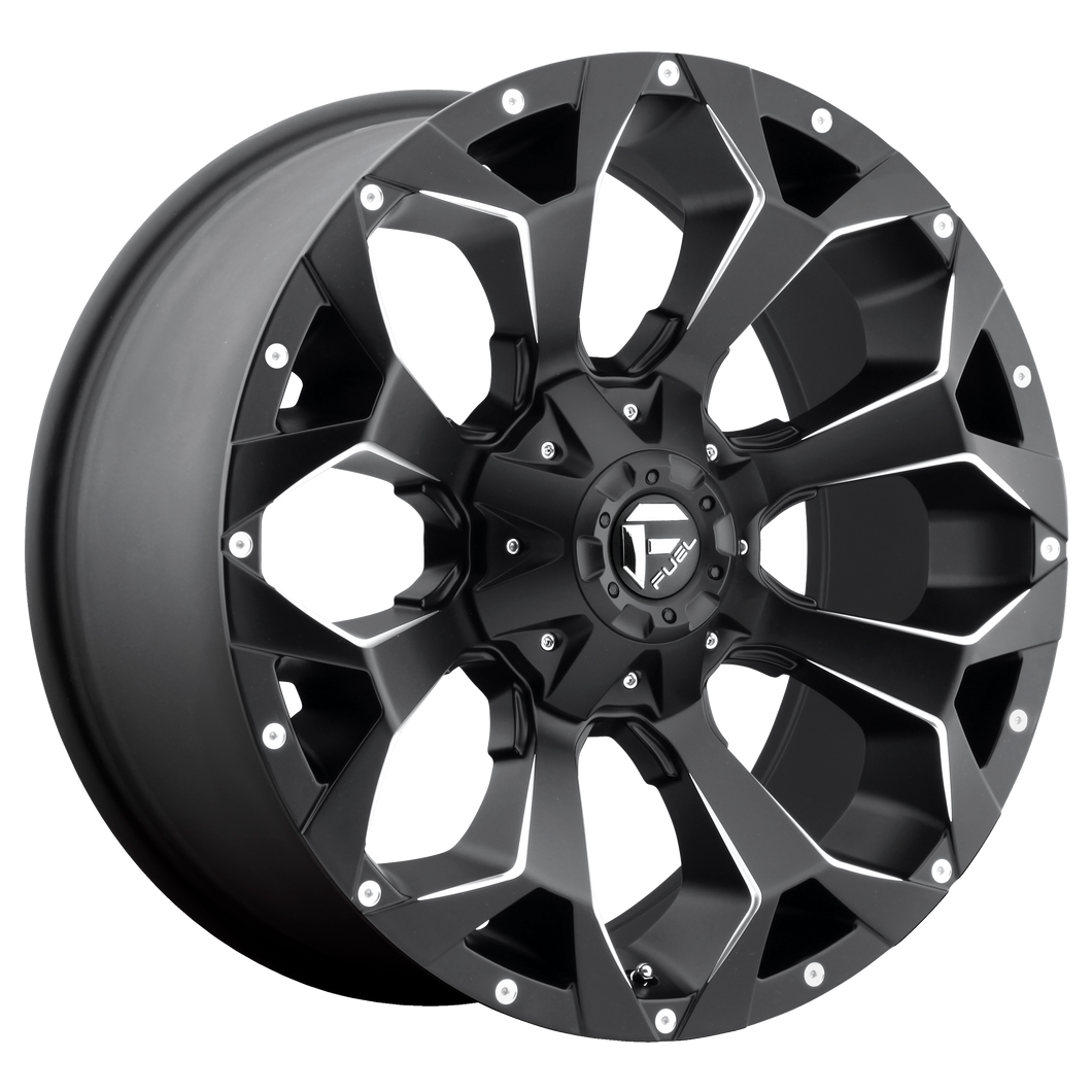 ASSAULT 22x12 6x135.00/6x139.70 MATTE BLACK MILLED (-44mm)
