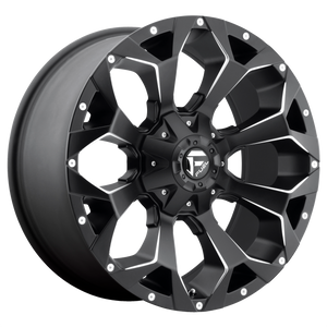 ASSAULT 20x12 8x165.10 MATTE BLACK MILLED (-43mm)