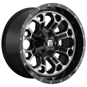 CRUSH 18x9 6x135.00/6x139.70 GLOSS MACHINED DOUBLE DARK TINT (-12mm)