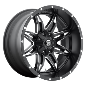 LETHAL 18x9 8x180.00 GLOSS BLACK MILLED (1mm)