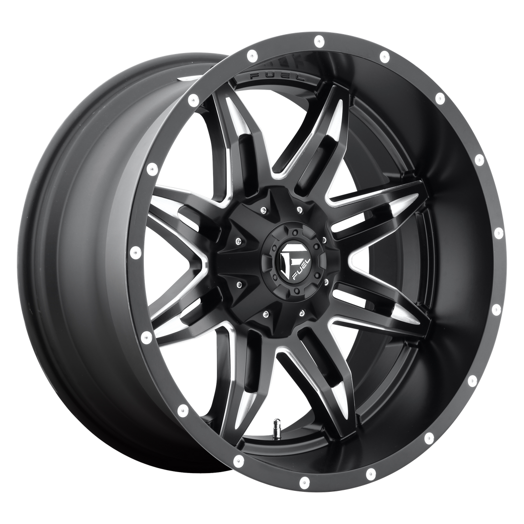 LETHAL 18x9 6x135.00/6x139.70 GLOSS BLACK MILLED (20mm)