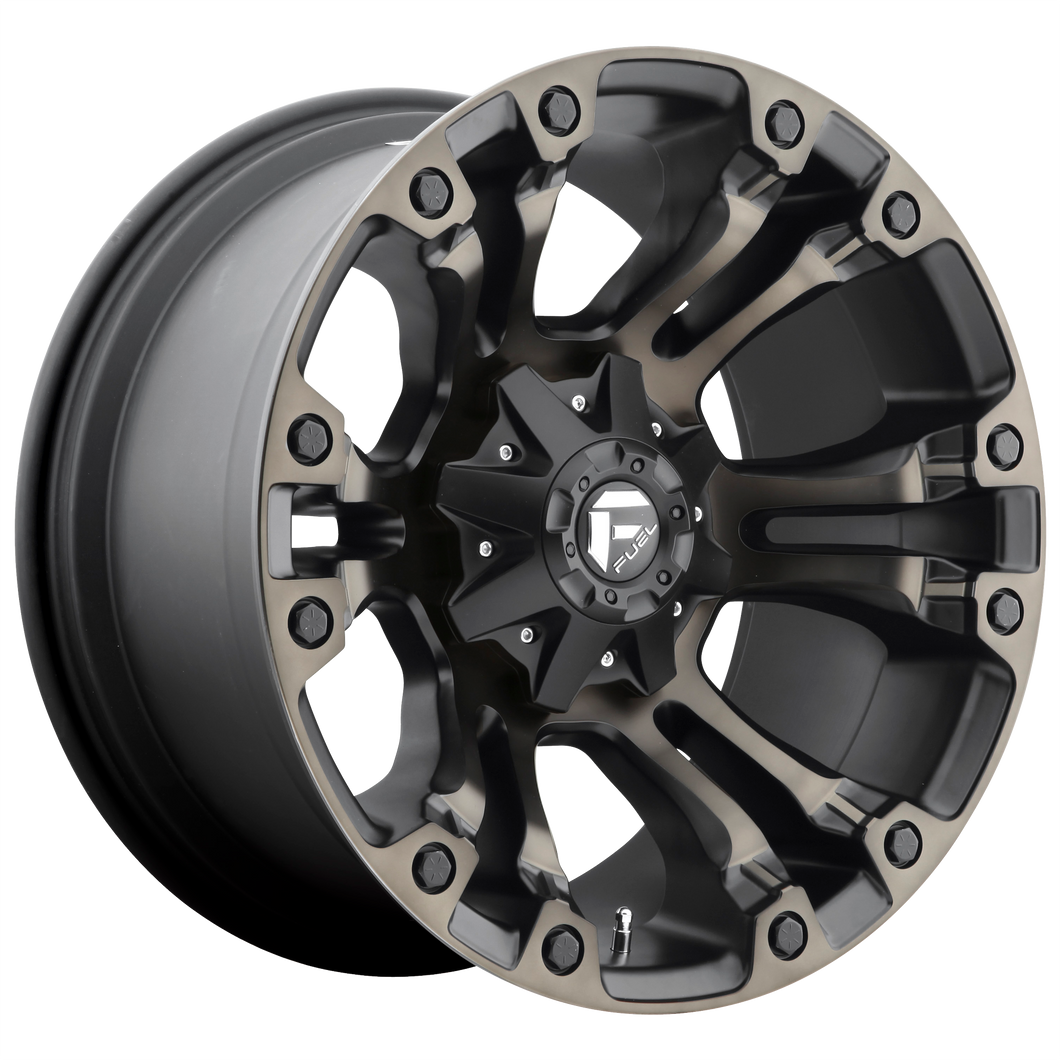 VAPOR 20x9 8x165.10 MATTE BLACK DOUBLE DARK TINT (1mm)