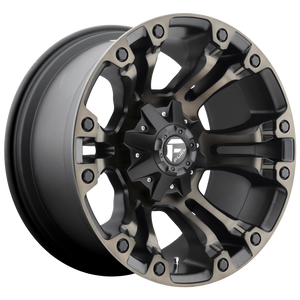 VAPOR 20x10 5x114.30/5x127.00 MATTE BLACK DOUBLE DARK TINT (-18mm)