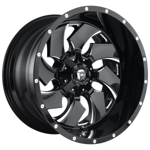 CLEAVER 20x9 8x165.10 GLOSS BLACK MILLED (1mm)