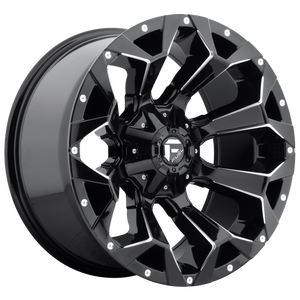 ASSAULT 20x9 8x165.10 GLOSS BLACK MILLED (20mm)
