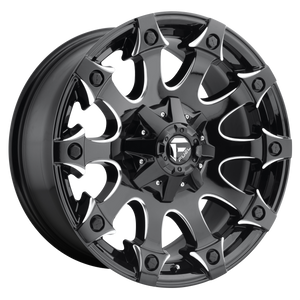 BATTLE AXE 20x9 6x135.00/6x139.70 GLOSS BLACK MILLED (1mm)