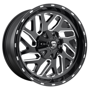 TRITON 22x14 8x165.10 GLOSS BLACK MILLED (-75mm)