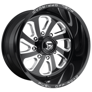 FLOW 22x10 6x135.00 GLOSS BLACK MILLED (-18mm)