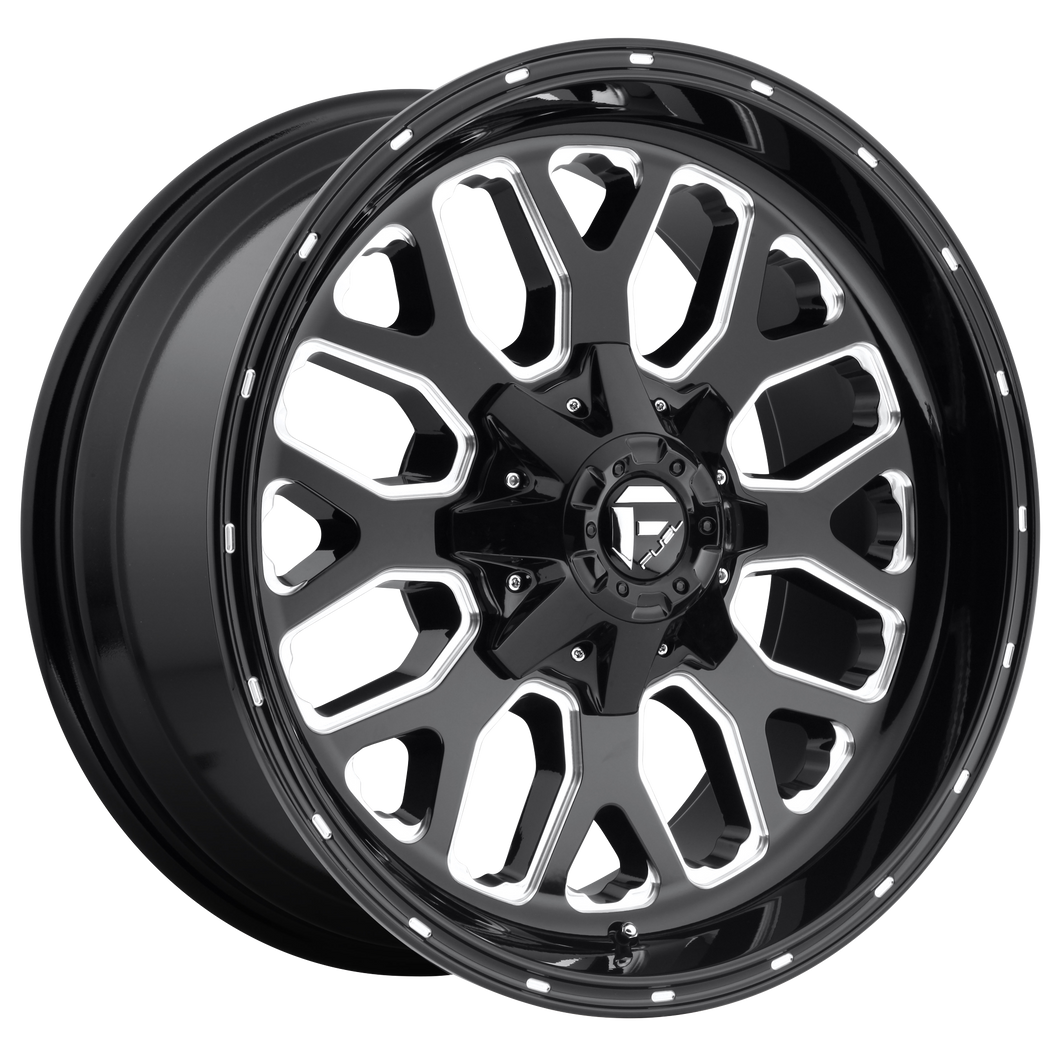 TITAN 22x10 6x135.00/6x139.70 GLOSS BLACK MILLED (-18mm)