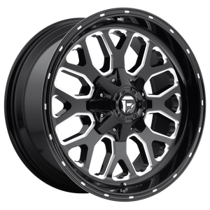 TITAN 22x12 6x135.00/6x139.70 GLOSS BLACK MILLED (-44mm)