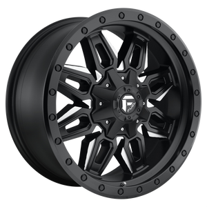 NEUTRON 18x9 8x165.10 MATTE BLACK MILLED (1mm)