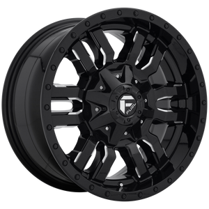 SLEDGE 20x9 6x135.00/6x139.70 GLOSS BLACK MILLED (1mm)