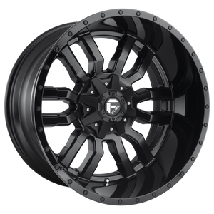 SLEDGE 20x10 5x114.30/5x127.00 MATTE BLACK GLOSS BLACK LIP (-18mm)