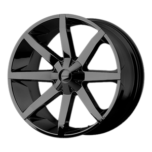 SLIDE 20x8.5 5x114.30/5x127.00 GLOSS BLACK (38mm)