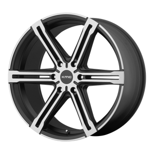 FACTION 24x9.5 6x135.00 SATIN BLACK W/ MACHINED FACE (38mm)