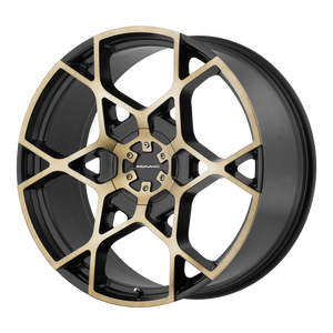 CROSSHAIR 20x8.5 6x135.00/6x139.70 SATIN BLACK W MACHINED DARK TINT FACE (35mm)