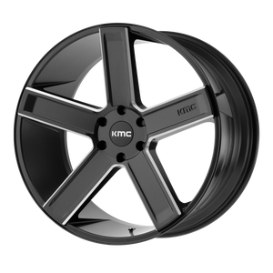 DUECE 22x9 6x135.00 SATIN BLACK MILLED (15mm)