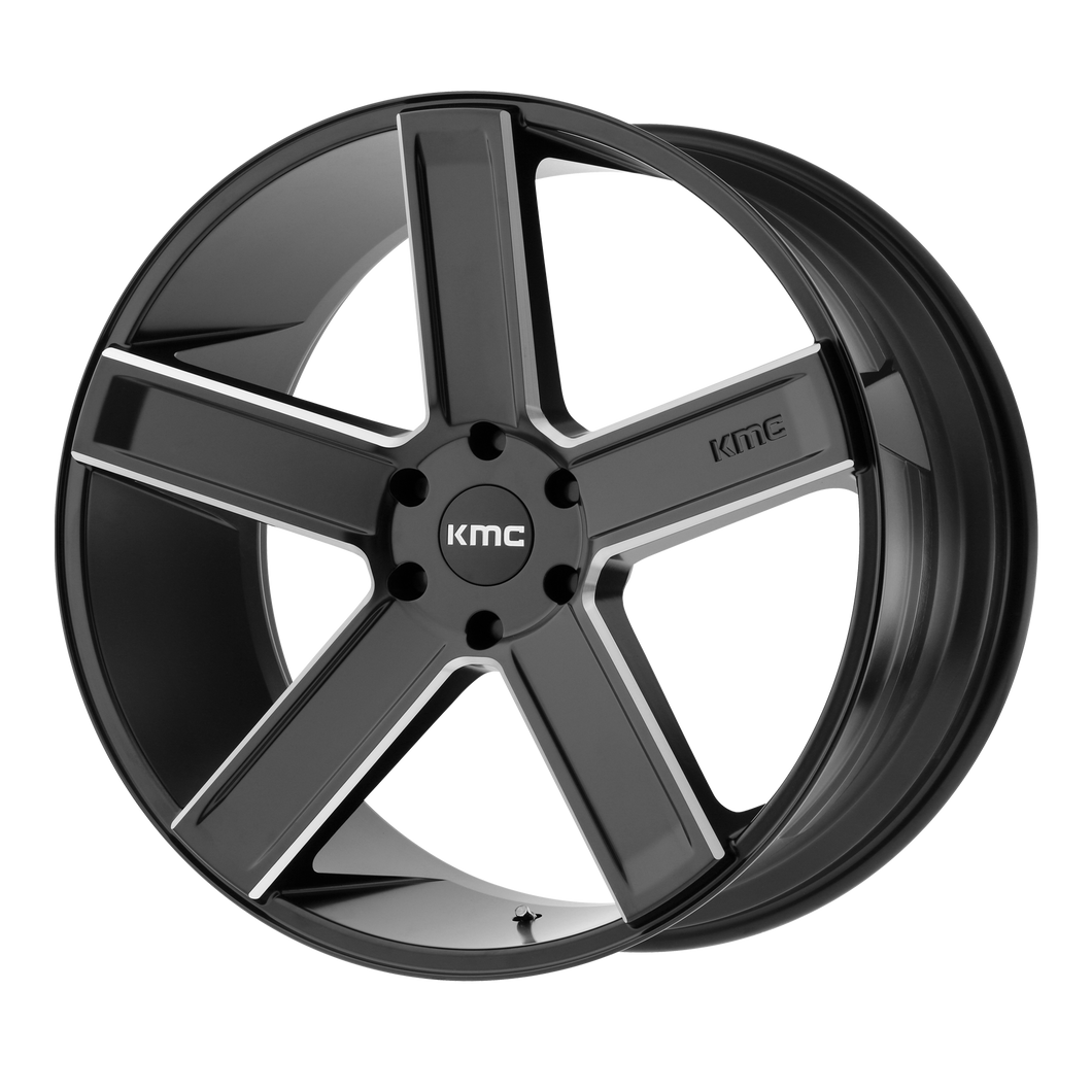 DUECE 20x8.5 5x150.00 SATIN BLACK MILLED (35mm)