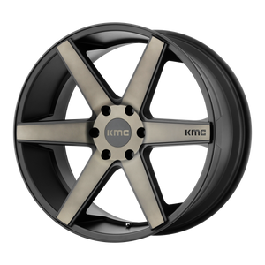 DISTRICT TRUCK 20x8.5 6x139.70 MATTE BLACK W/ DARK TINT (15mm)