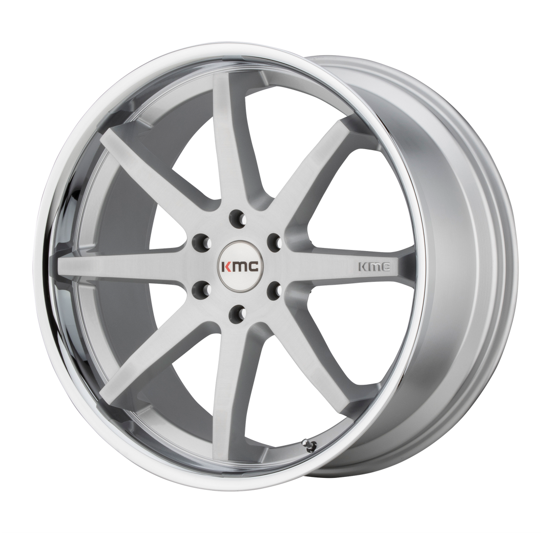 REVERB 22x9.5 6x139.70 BRUSHED SILVER W/ CHROME LIP (30mm)