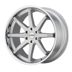 REVERB 22x9.5 5x120.00 BRUSHED SILVER W/ CHROME LIP (30mm)
