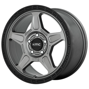 ALPINE 18x8 5x112.00 SATIN GRAY W/ BLACK LIP (38mm)