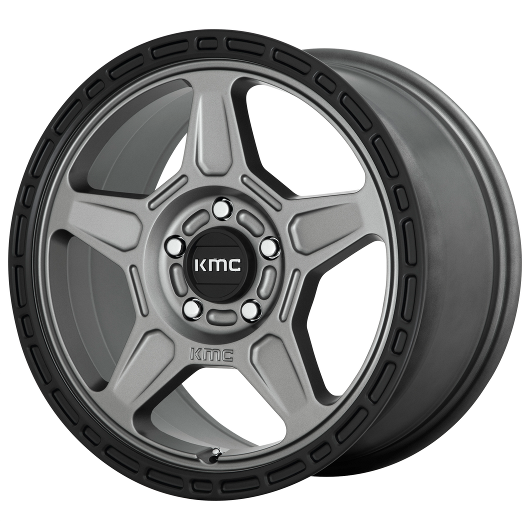 ALPINE 17x8 5x100.00 SATIN GRAY W/ BLACK LIP (38mm)