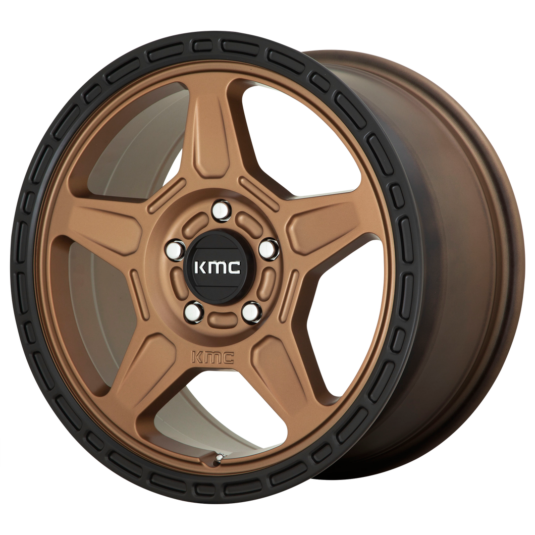ALPINE 17x8 5x100.00 MATTE BRONZE W/ BLACK LIP (38mm)
