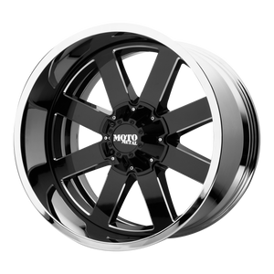 MO200 20x10 6x139.70 GLOSS BLACK MILLED CENTER W/ CHROME LIP (-18mm)
