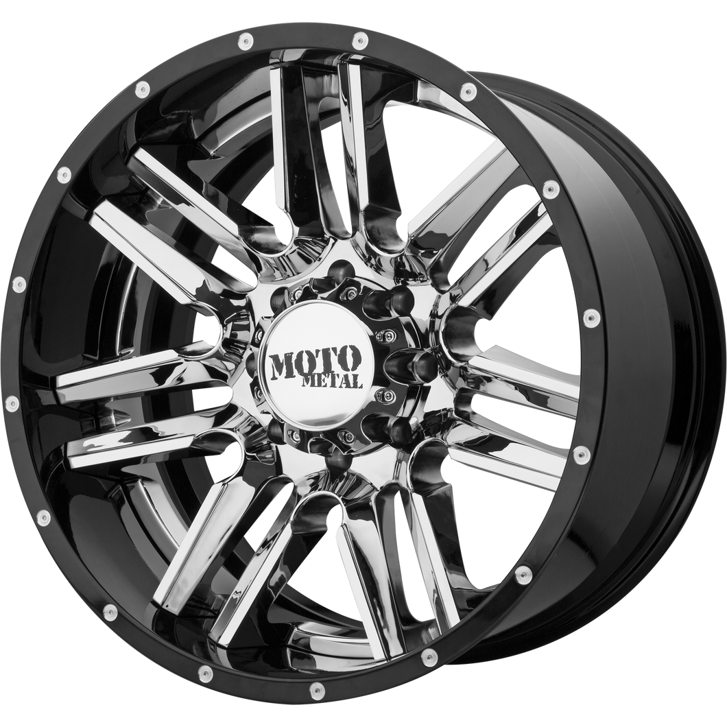 MO202 22x12 6x135.00 CHROME CENTER W/ GLOSS BLACK MILLED LIP (-44mm)