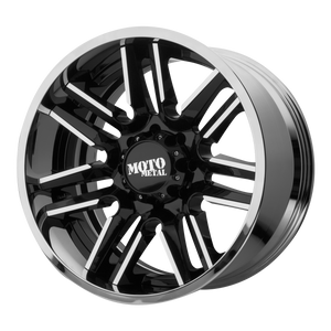 MO202 22x10 8x180.00 GLOSS BLACK MACHINED CENTER W/ CHROME LIP (-18mm)
