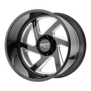 MO400 22x12 5x139.70 GLOSS BLACK MILLED (-44mm)