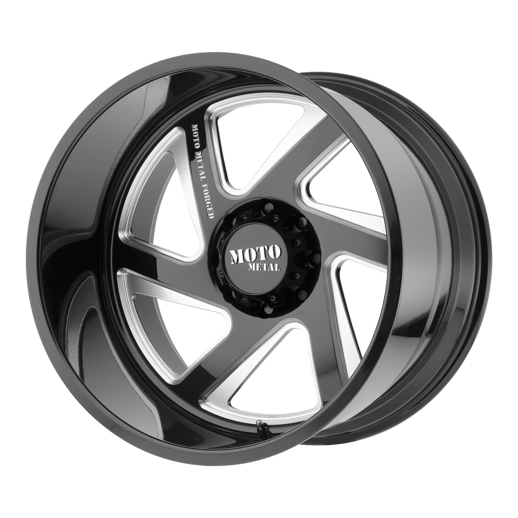 MO400 24x12 8x165.10 GLOSS BLACK MILLED (-44mm)