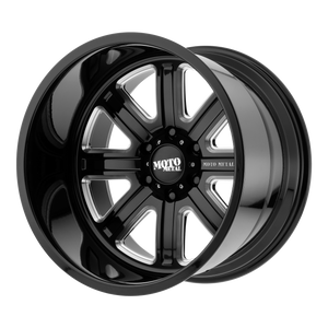 MO402 24x12 5x139.70 GLOSS BLACK MILLED (-44mm)