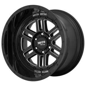 DEEP SIX 20x10 6x135.00 GLOSS BLACK MILLED (-18mm)