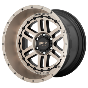 DEEP SIX 20x12 6x139.70 SATIN BLACK W/ BRONZE TINT (-44mm)