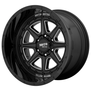 PHANTOM 20x12 6x139.70 GLOSS BLACK MILLED (-44mm)
